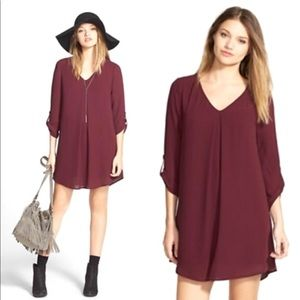 Lush Maroon Karly Shift Dress size xs